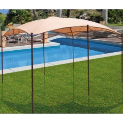 Gazebo color Beige, 4x3 mt., Jardinia